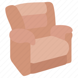armchair, chair, furniture, lounger, recliner, reclining, sofa icon