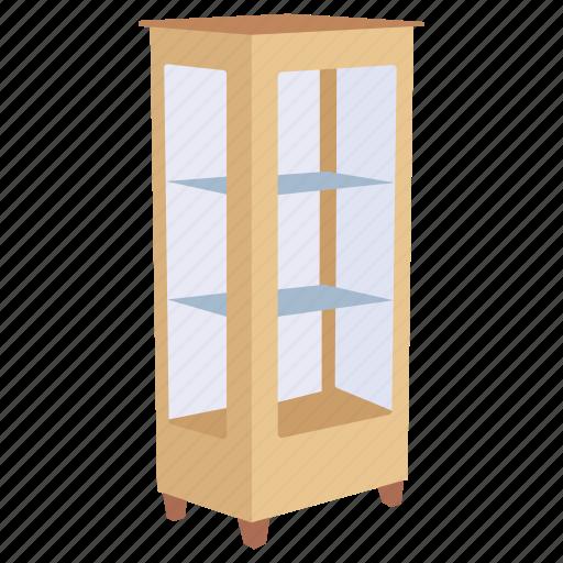 cabinet, curio, furniture, glass, trophy, vitrina icon