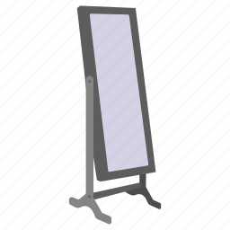 bedroom, body, furniture, long, mirror, stand icon