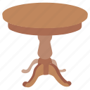 antique, cocktail, coffee, furniture, round, stool, table
