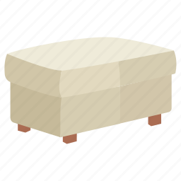 foot, footrest, furniture, ottoman, poof, rest, stool icon