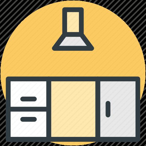 kitchen cabinet, kitchen extractor, kitchen furniture, kitchen storage, kitchen unit icon