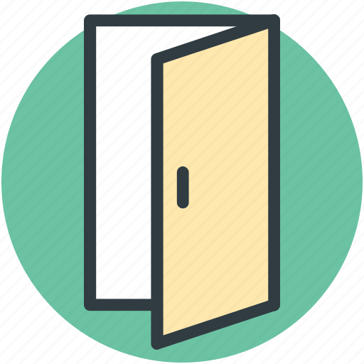 closed door, door, entrance, exit, home door icon