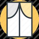 curtain, furniture, home window, living room window, window icon