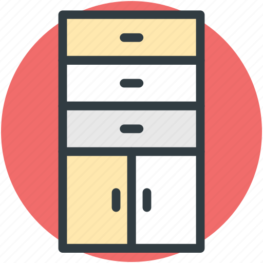 Cabinet, closet, cupboard, drawers, storage drawers icon - Download on Iconfinder