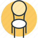chair, furniture, dining chair, desk chair, seat