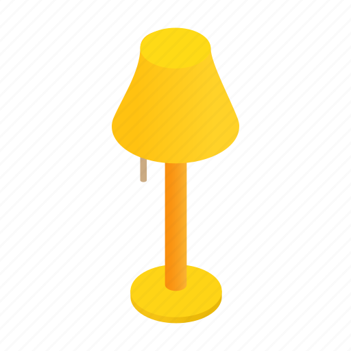 concept, floor, furniture, home, interior, isometric, lamp icon