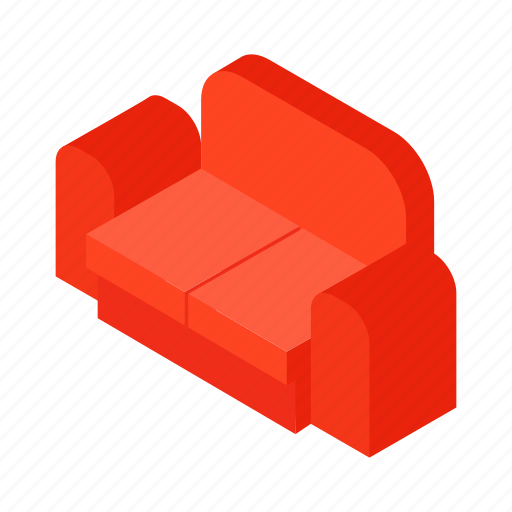 couch, furniture, home, interior, isometric, seat, sofa icon