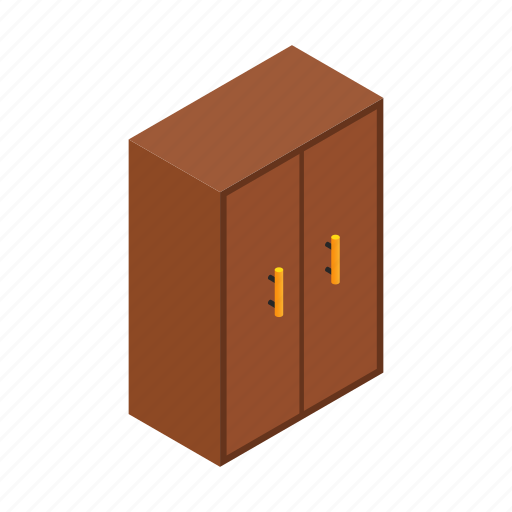 Art, bedroom, brown, cupboard, furniture, isometric, isometry icon - Download on Iconfinder
