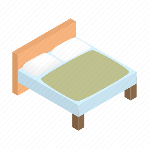 bed, comfort, double, isometric, linen, linens, sheet icon