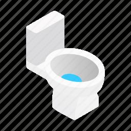 bathroom, bowl, isometric, restroom, sanitary, seat, toilet icon