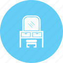 dresser, dressing table, dressing vanity, furniture icon