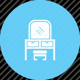 dresser, dressing table, dressing vanity, furniture icon