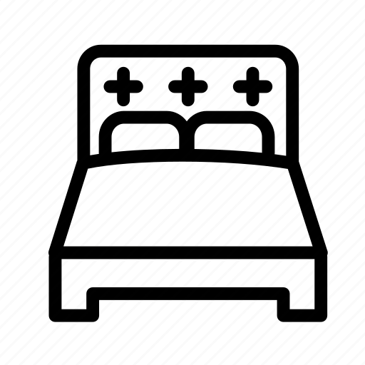 bed, bedroom, furniture, hotel, household, king size bed, sleeping bed icon