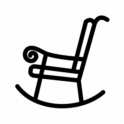 Rocker, sit, household, rocking chair, chair, furniture icon