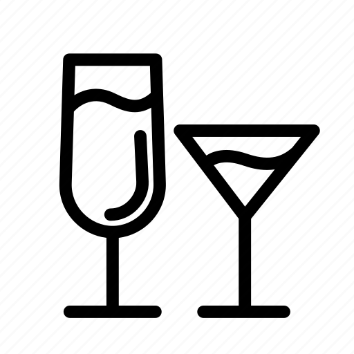 Alcohol, household, drink, cocktails, glass, beverage, drinks icon