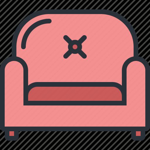 armchair, furniture, home, household, livingroom, room, seat icon