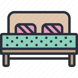 bed, bedroom, furniture, household, room, sleep icon