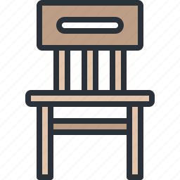 chair, furniture, home, household, seat icon