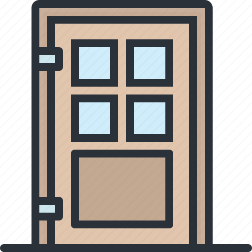 door, entrance, furniture, home, house icon