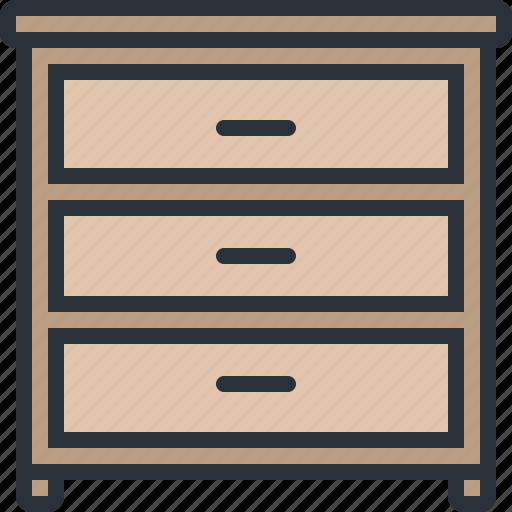 drawer, furniture, home, household, shelf icon