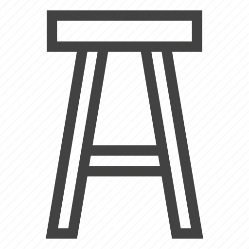 bar, chair, furniture, interior, stool, tabouret icon