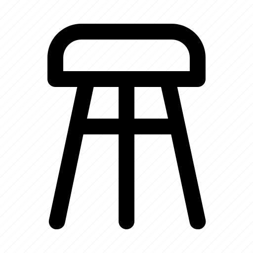 furniture, home, home appliances, stool icon