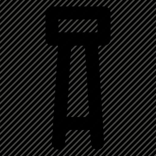 chair, furniture, interior, seat, stool icon
