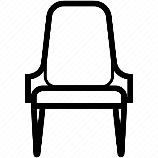 armchair, bar, chair, furniture, pew, recliner, stool icon
