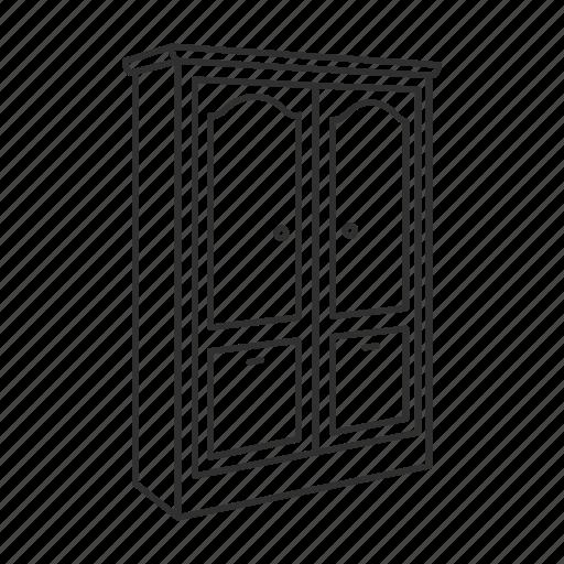 Armoire, closet, drawer, furniture, house interior, shelves, wardrobe icon - Download on Iconfinder