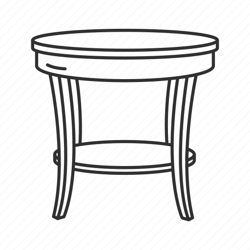 Desk, end table, furniture, household, interior, side table, table icon - Download on Iconfinder