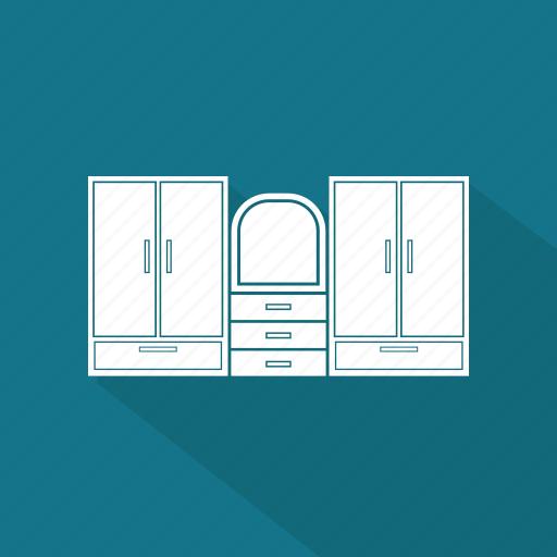 belongings, dressing, furniture, households, mirror icon