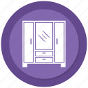 almirah, bureau, cabinet, drawer, filing cabinets icon