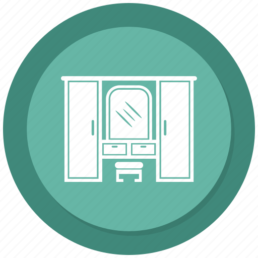 Cupboard, storage cabinet, safe almirah, closet icon
