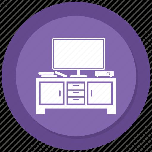 Interior, table, computer, furniture icon
