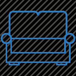seats, sofa, two icon