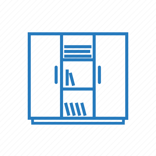 books, doors, row, sell icon