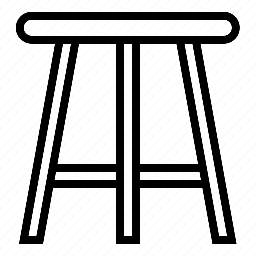 chair, counter stool, furniture, stool icon