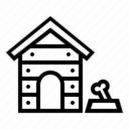 dog house, furniture, house, lodge, pet house icon