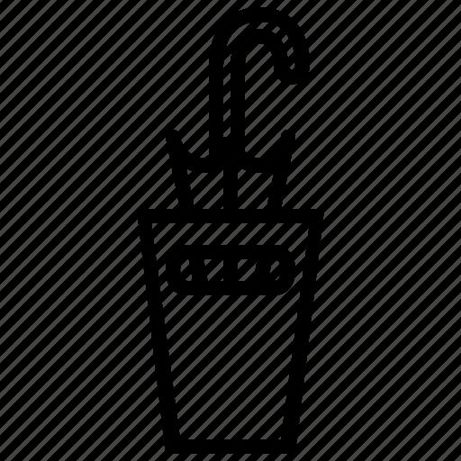 furniture, holder, stand, umbrella stand icon