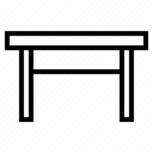 desk, furniture, table icon
