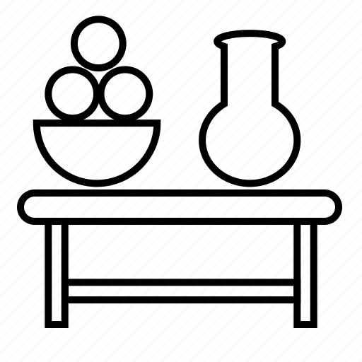 container, fruit, jars, table, ware icon