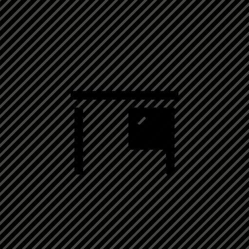 desk, furniture icon