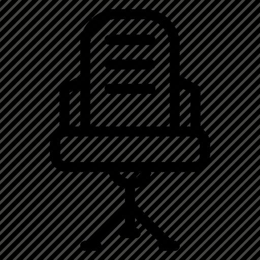 chair, decor, desk, furniture, home, house, housewares icon