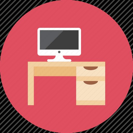 computer, desk icon