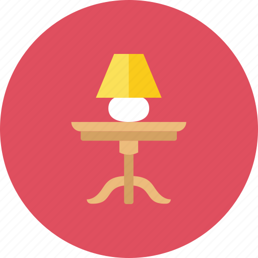 lamp, table icon