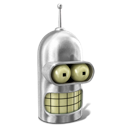 bender, futurama, robot icon