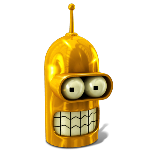 bender, futurama, golden, robot icon