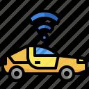 autonomous, car, driverless, future, transportation icon