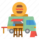 automobile, car, food, foodtruck, trucking icon